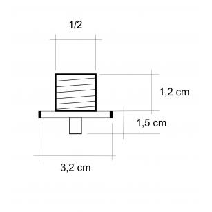 Acquista Braccio di sostegno per doccia con inclinazione di 45°, lungo 15 cm al miglior prezzo