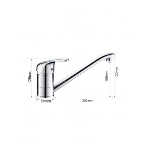 Achetez Bec pour robinet universel pour hauteur 16 cm, chromé au meilleur prix