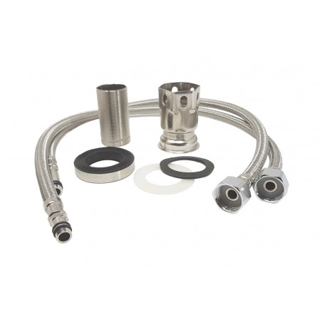 Mixer tap for classic bathroom sink, complete
