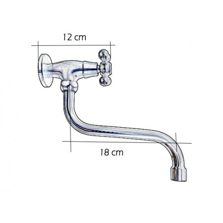Support adjustable hand shower abs