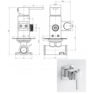 Achetez Ensamble de douche, haut 70 cm, complet avec douchette et flexible au meilleur prix