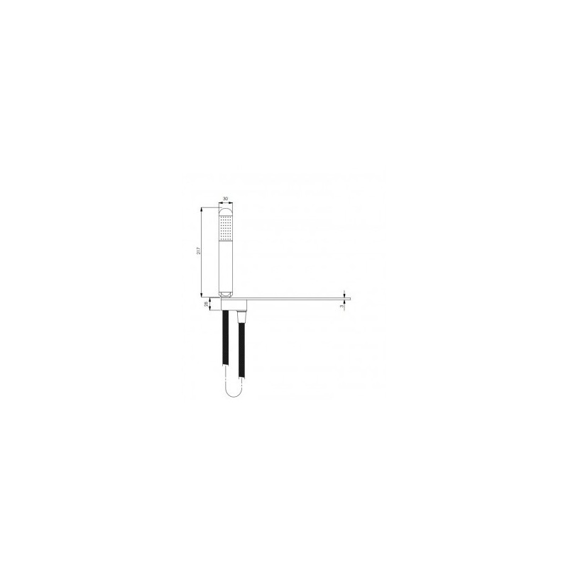 Kitchen Faucet A Wall With Handles And Black Cane Extendable