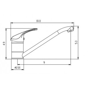 Tap for washing machine with handle abs, 3/4