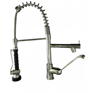Shower spray for heavy brass industrial kitchen, with handle in ABS