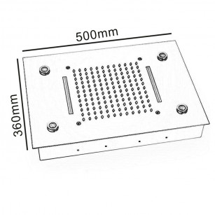 Siphon waste trap White Exhaust Shower Plate 1.1 / 4