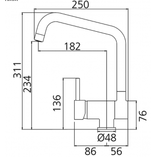 MINISFERA by M x 3/8 F 3/8, with external sandblasting