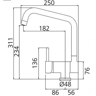 Acquista Minisfera da M 3/8 x F 3/8, con sabbiatura esterna al miglior prezzo