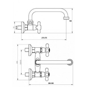 Acquista Supporto per doccia con presa acqua e gancio girevole in ottone pesante al miglior prezzo